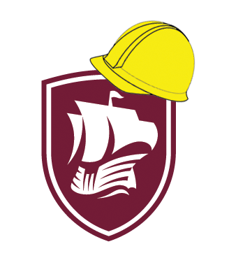 Logo with Construction Hat