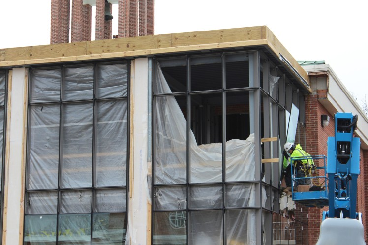 Photo of Morris Hall Window Installation
